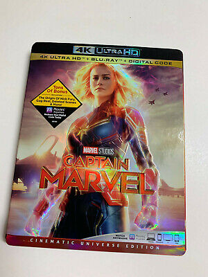 CAPTAIN MARVEL Brie Larson 4K Ultra HD UHD Blu Ray REGION FREE US IMPORT