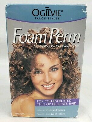 Ogilvie Foam Perm Color Treated Thin or Delicate Hair No Drip 1 Application NEW