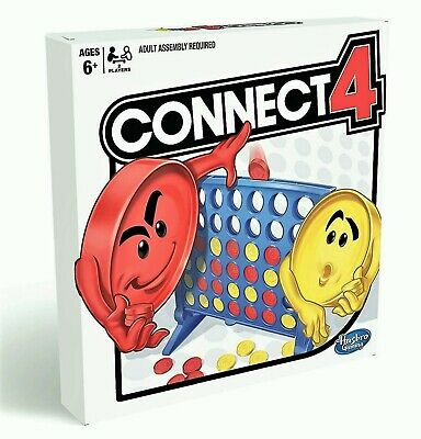 CONNECT 4 by HASBRO : classic 4 in a row strategy disc game, 2017 - NEW & SEALED
