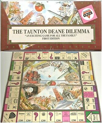 THE TAUNTON DEANE DILEMMA (First Edition) - rare 1990s Monopoly-style board game