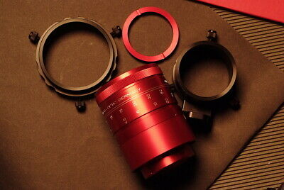 superb isco ultra-star red   anamorphic  lens  cinemascope redstan clamp  kit