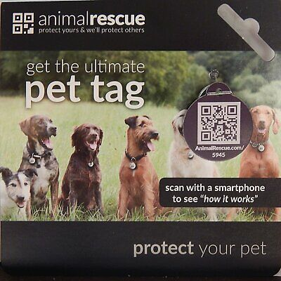 Q-Tag QR Code Pet ID Tag for Dogs & Cats GPS Enabled