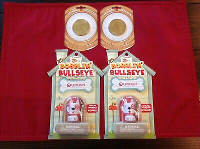 Target Collectible Gift Cards Giftcoin and Bobblin Bullseye NO CASH VALUE