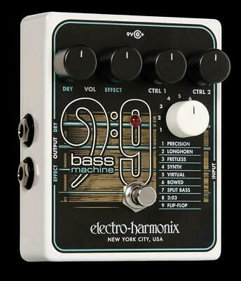 Electro-Harmonix EHX Bass9 Bass Machine Guitar Synth Effect Effects Pedal