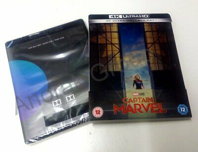 CAPTAIN MARVEL 4K Blu Ray 2 Disc Steel Book UK Brie Larson +UHD Promotional Disc