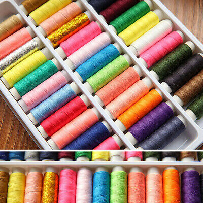 39 Roll Sewing Cotton Thread Box Kit Set For DIY Sewing/Embroidery Machine AU