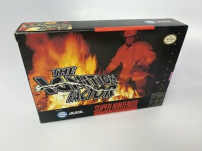 Authentic BOX ONLY - THE IGNITION FACTOR Super Nintendo SNES - NO INSTRUCTIONS