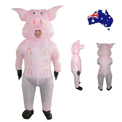 Inflatable Pink Pig Costume Fancy Dress Party Adult Cosplay Carnival Outfits AU