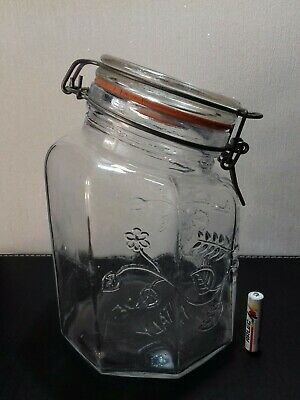 vintage Italian glass pasta Jar container