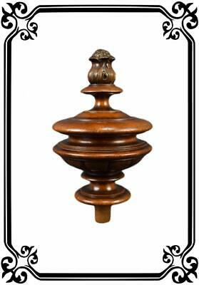Antique Architectural Wood Stairwell Stair Finial Newel Post
