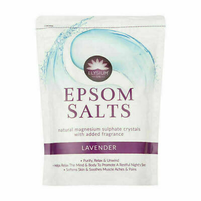 1 KG Elysium Spa Bath Salts Sulphate Crystal Epsom Relax Pure Natural Magnesium