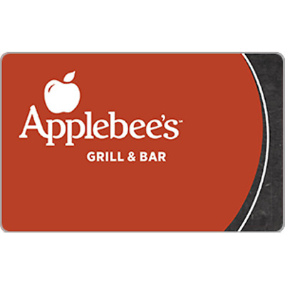 Applebee`s Gift Card $15 Value, Only $14.00! Free Shipping!