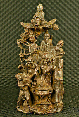 big chinese bronze casting Eight Immortwoulss statue collectable