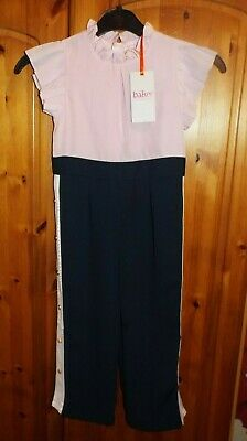 Ted Baker - Girls' Pink Frill Trim Jumpsuit Age 4  Years Designer BNWT