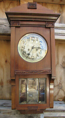 Antique German Wall Clock  Gustav Becker - Jugend Style - 1910s.Free Shipping.