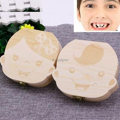 Baby Cute Wooden Tooth Collection Box Change Tooth Box 35DI