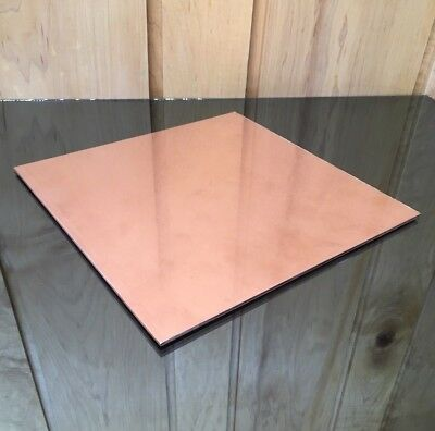 """1/8"""" COPPER SHEET PLATE NEW 10""""x10"""" .125 THICK *CUSTOM 1/8 SIZES AVAILABLE*"""