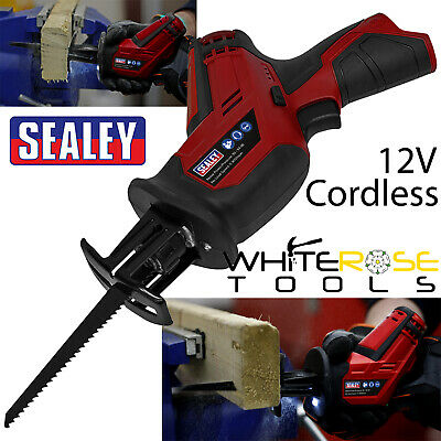 Sealey Cordless Reciprocating Saw 12V Body Only Recip Recipro Wood Metal Cutting