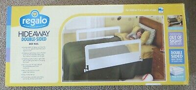Regalo Hideaway Double-Sided Bed Rail Guard (fits twin to queen beds)