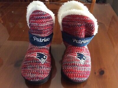New England Patriots Slippers Logo - Women's Boot Slippers - Size M (7-8)