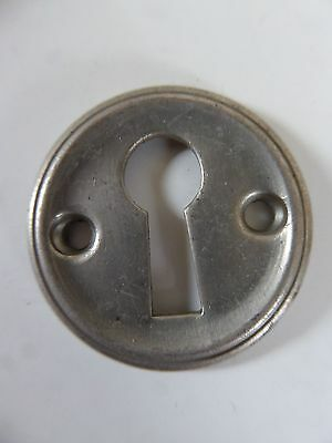 Vintage / Antique Brass ( Nickle Plated ) * Round Key Hole Cover *  Escutcheons