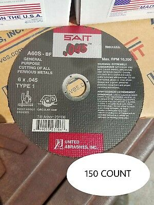 "Sait 23106 6"" x .045 x 7/8"" Cut-off Wheel Box of 150"