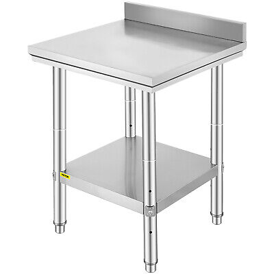 66X60cm Stainless Steel Kitchen Work Bench Top Food Grade Catering Prep Table