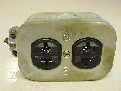 Vintage Ge Outlet Box - 1950'S 1960'S Industrial Decor *Used Surplus*