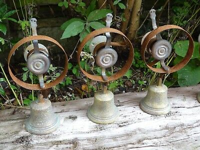 Set Of 3 Reclaimed Servants Maid Butler Bell Brass Bells Door Knobs Handles