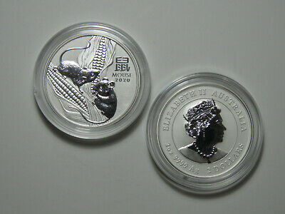 2020 Australia $2 - Year of the Mouse - Lunar Series III - 2 oz 9999 Silver