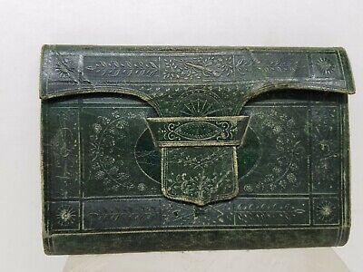 Vintage Double Sided Wallet Purse Planner Pockets Intricate Artwork