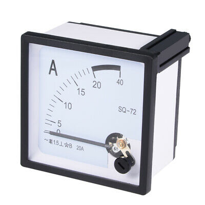 AC 0-20A Analog Panel Ammeter Gauge Ampere Current Meter SQ-72 1.5 Error Margin