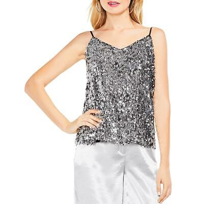 Vince Camuto Womens Fish-Scale Sequined Night Out Camisole Top BHFO 3445