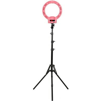 "12"" Dimmable LED Ring Light Kit with Stand 6000k Camera Photo Video White"