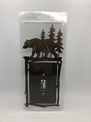 Bear Trees Metal Light Switch Cover Wall Plate Cabin Lodge Rustic Home Decor