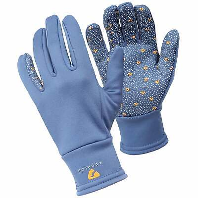 Shires Aubrion Patterson Winter Womens Gloves Everyday Riding Glove - Blue
