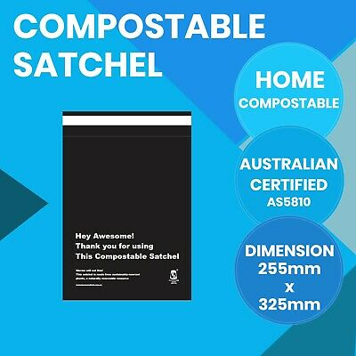 Compostable Satchels 255mm x 325mm Courier Bags Biodegradable Mailer 30 Pack
