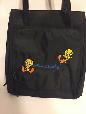 Vintage Loony Tunes Tweety Bird Black Tote Bag Purse Warner bros