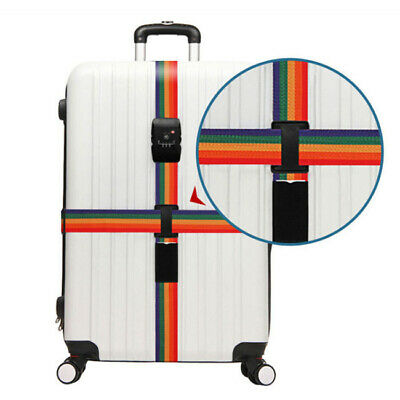 Suitcase Coded Cross Belt Lock Password Strap Lock Luggage  Baggage Travel Tool