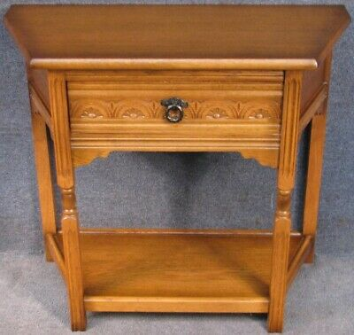 Olde Court Light Oak Canted Side Table