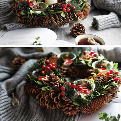 10x Natural Dried Pine Cones Large Vase Filler Wedding Party Pinecones Decor