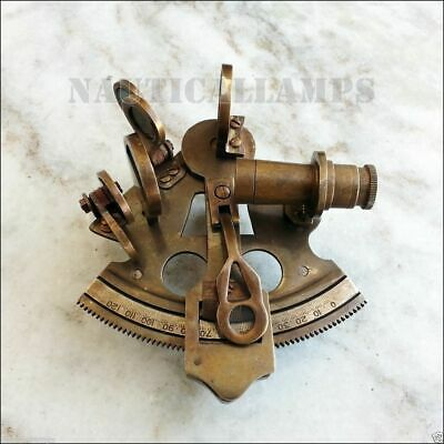 Solid Brass Sextant Nautical Marine Instrument Astrolabe Ship Maritime Gift