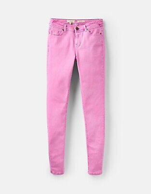 Joules Monroe Skinny Stretch Jeans Pink Size UK 16 BNWT NEW