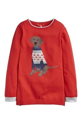 Joules Girls Miranda Knitted Jumper Red Age 6 Years BNWT NEW