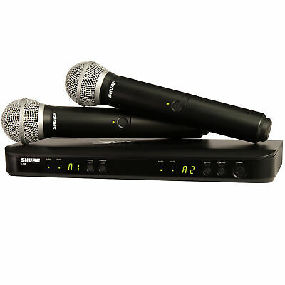 Shure BLX Dual Channel Handheld PG58 Wireless Microphone System BLX288/PG58-H10
