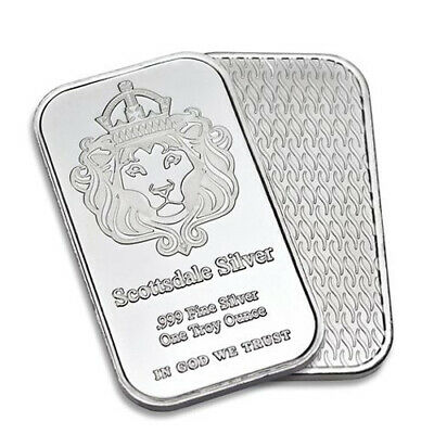 1 oz Scottsdale Silver Bullion Bar