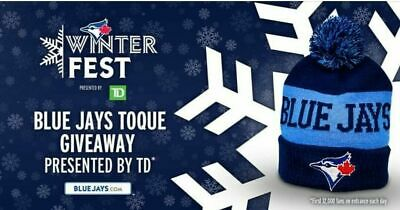 Toronto Blue Jays Winter Toque Hat - Official Giveaway 2020 Winter Fest New Blue