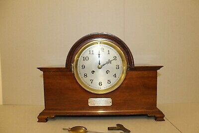 Art Deco Mahogany French Mantle Clock
