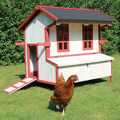 wooden CHICKEN COOP Cordula EASY CLEAN run hen house cover supplies wire cage