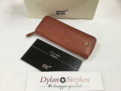 montblanc Jewels collection brown leather two pen pouch UNUSED